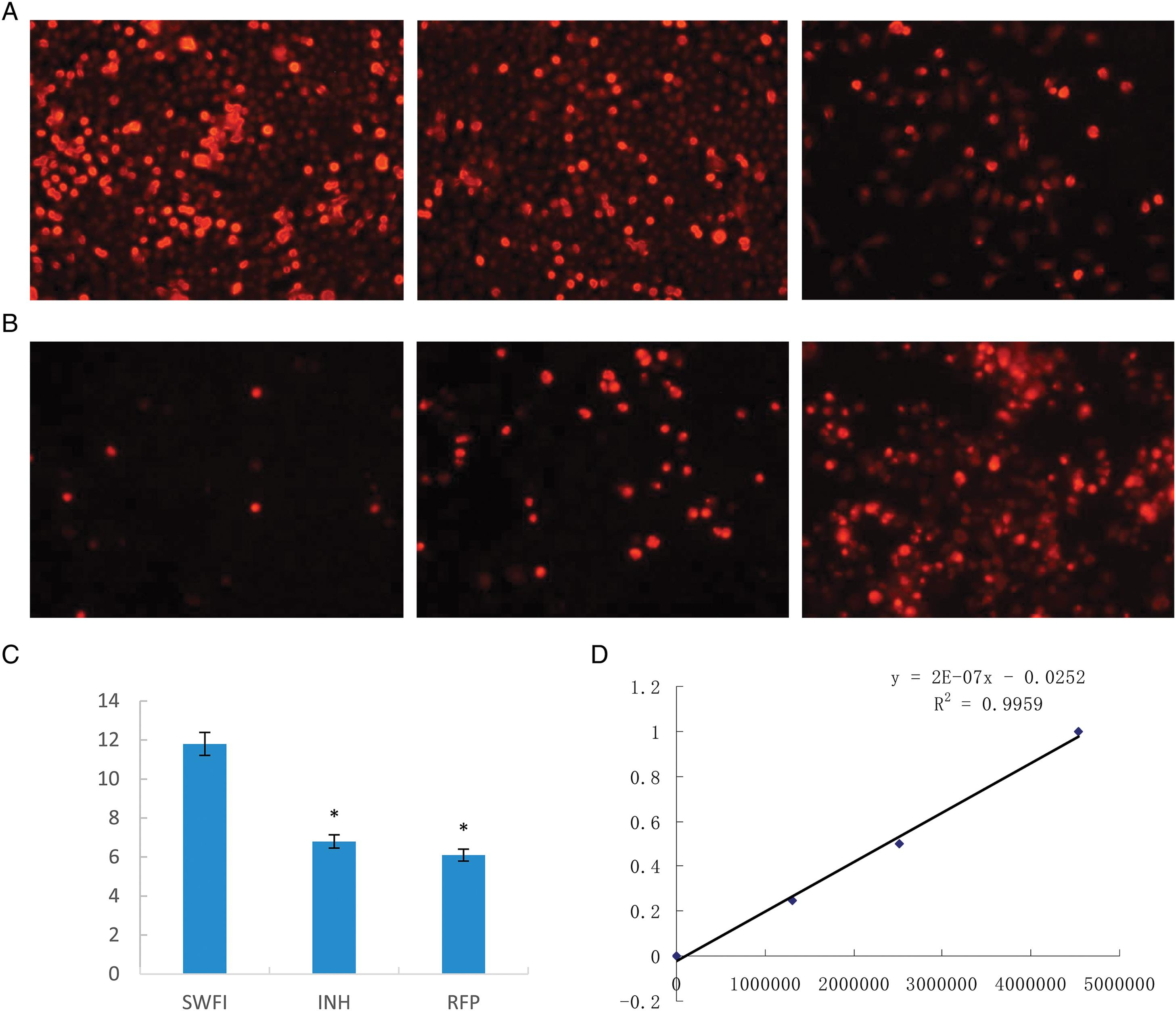 Toxicity effect on mitochondria in RFP- and INH-stimulated QSG7701 cells.